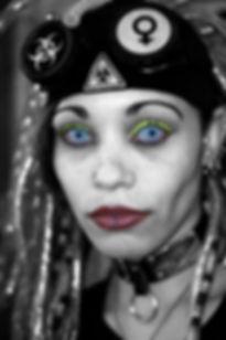 Fine art Cyber Goth Girl