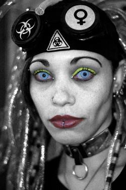Fine art Cyber Olhar feminino