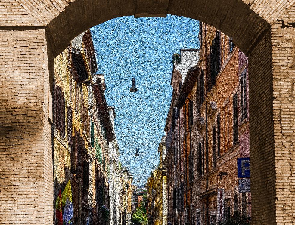 Quadro Portal da Vila - Village portal frame by Kcris Ramos