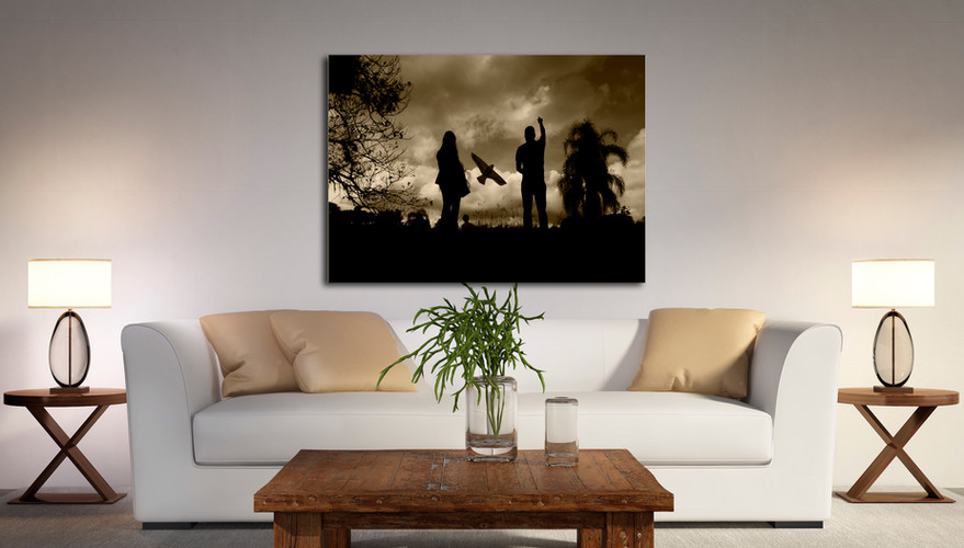 quadro-Silhueta-do-papai-picture-silhouette-of-daddy
