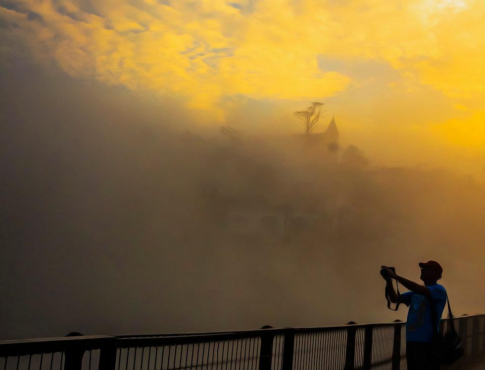 Quadro Silhueta de fotógrafo - Quadro Silhueta de fotógrafo - frame silhouette of photographer by Kcris Ramos