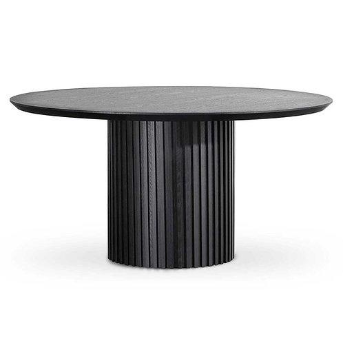 LIGNES 150CM BLACK OAK DINING TABLE