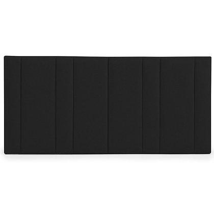 NERO BLACK LINEN PANELLED BEDHEAD
