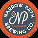 Narrow Path - New Logo - blue on orange.