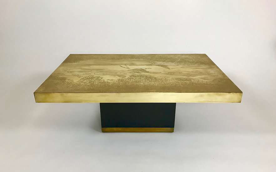 Belgian brass cofee table