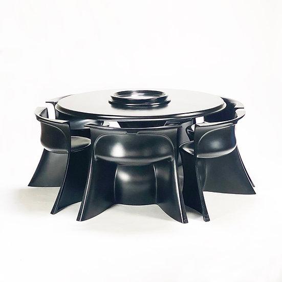 Boccio table and chairs Pierluigi Spadolini for Permaflex