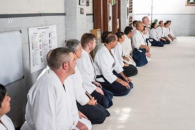 sittin Seiza aikido class