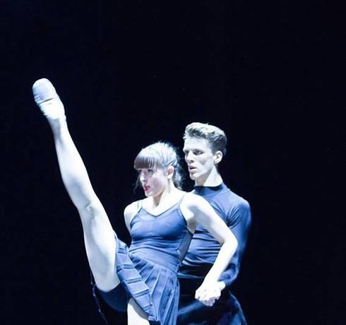 "Corinne Swallow and Nikolai Hepp in ""Disportment"""