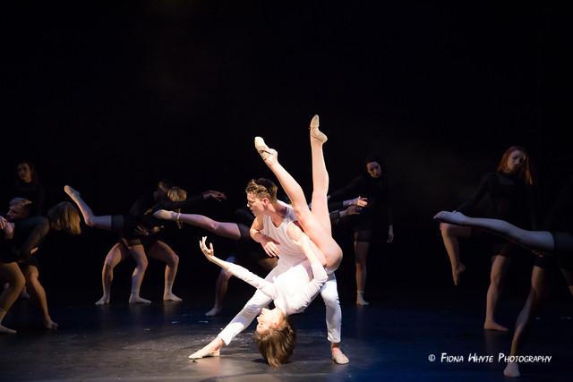 "Corinne Swallow and Nikolai Hepp with the Ensemble in ""Adrift"""