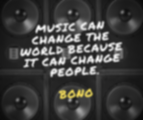 Music can change the world because it ca