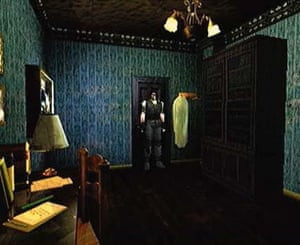 Exploring a big house … Resident Evil. Photograph:  Capcom