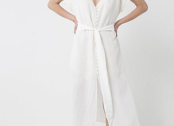 THIRD FORM - DAY BREAK TIE FRONT DRESS - WHITE