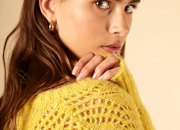 FRNCH PARIS- NAFISA SWEATER - GOLDEN GREEN