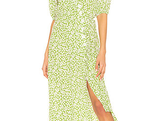 FAITHFULL THE BRAND - MARTA MIDI DRESS - WASHED LIME
