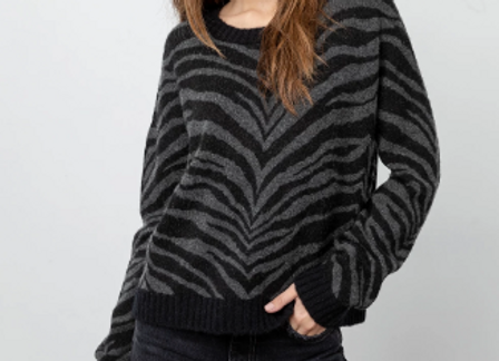 RAILS - CHANCE SWEATER - CHARCOAL TIGER