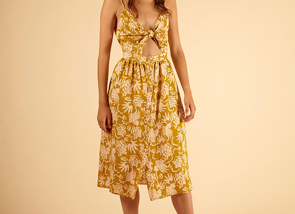FRNCH PARIS - AFIDA DRESS -OLIVE