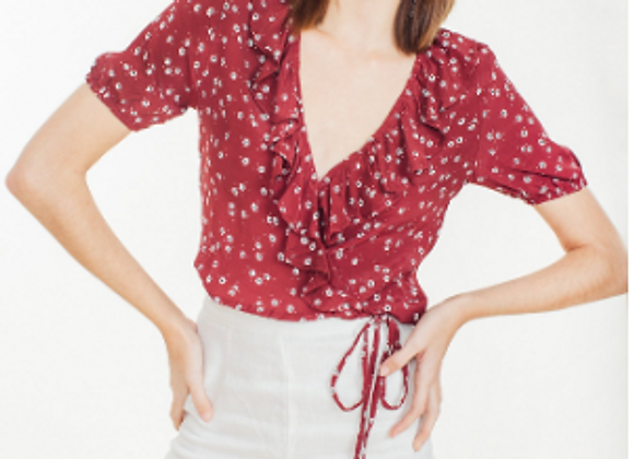 FAITHFULL THE BRAND - CARAYES TOP - BETINA FLORAL BERRY