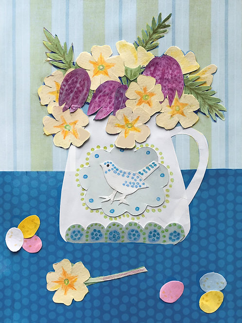 Primroses Easter Card
