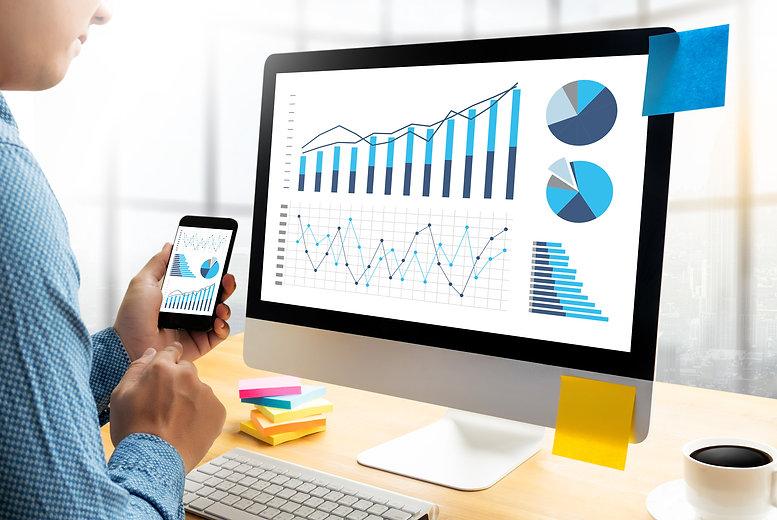 Statistics Analysis Business Data Diagra