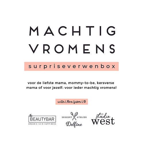 Machtig vromens - Moederdag - surpriseverwenbox