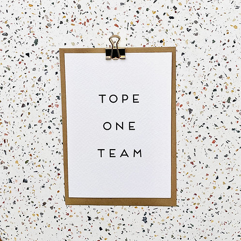 Tope one team
