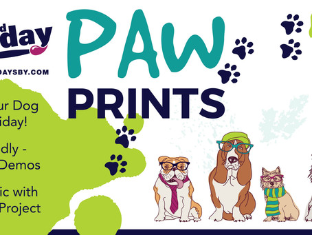 3rd Friday June 18th - PAW PRINTS!