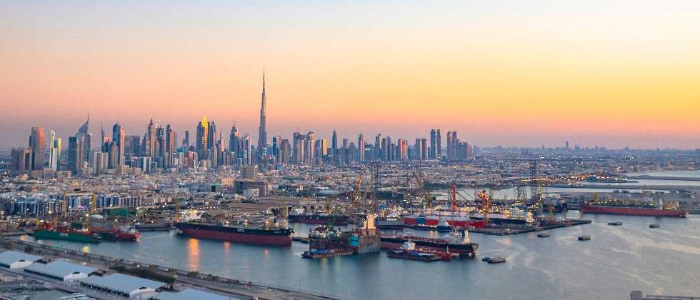 Dubai nightfall 980x420