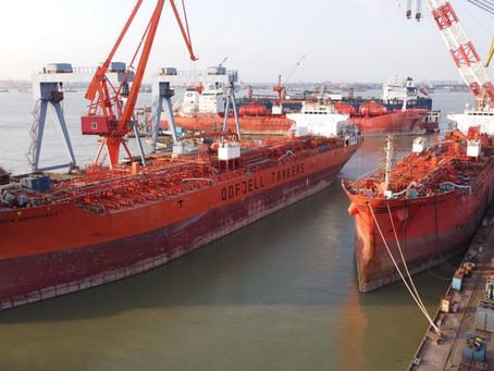 Busy times at Chengxi shipyard