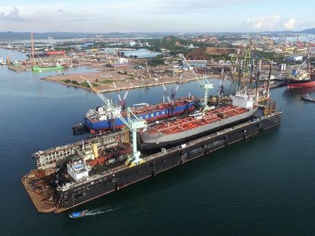 New floating dock at PaxOcean Pertama, Batam