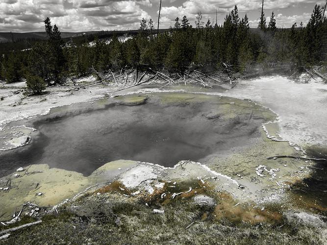 Hot water in Yellowstone