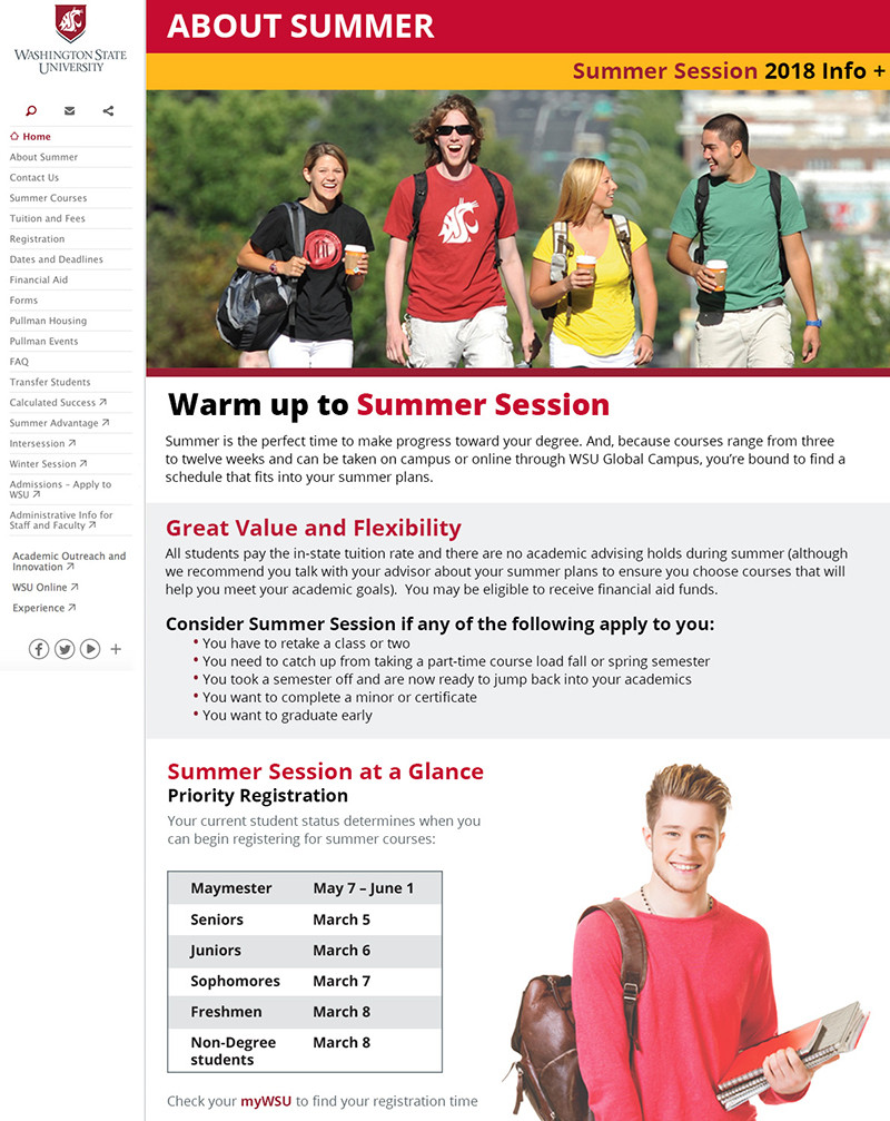 Summer Session About page