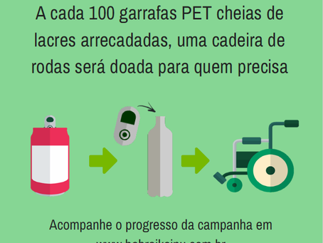 CAMPANHA DE ARRECADAÇÃO DE LACRES!