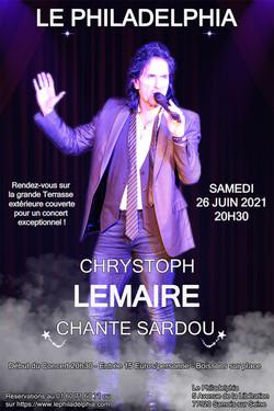 Chrystoph Lemaire chante Sardou juin 202
