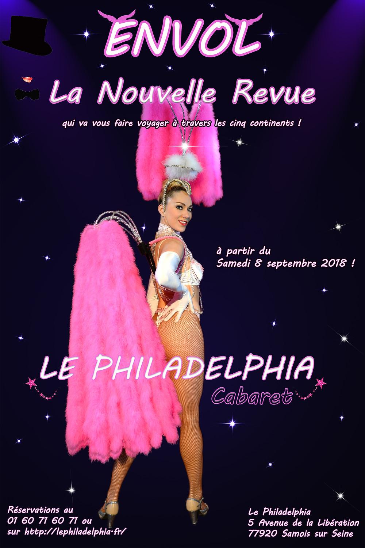 """Nouvelle Revue """"Envol"""" du Philadelphia à partir du 8 Septembre 2018!"""
