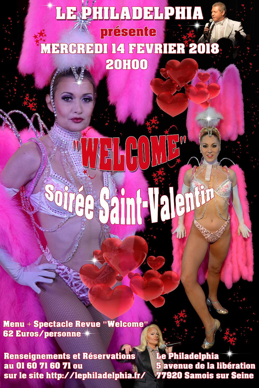 Soirée Saint-Valentin au Cabaret le Philadelphia (77) le 14 février 2018