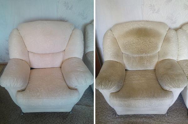 кресл до и после химчистки