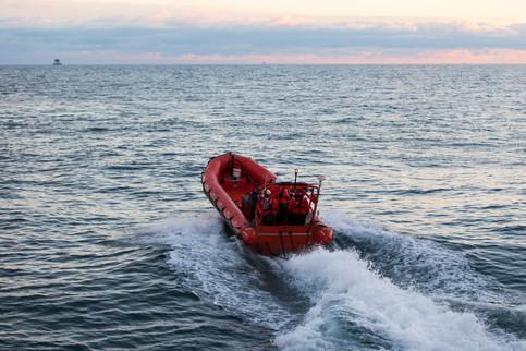 Rettungsboot auf See - Chancen- und Risikomanagement