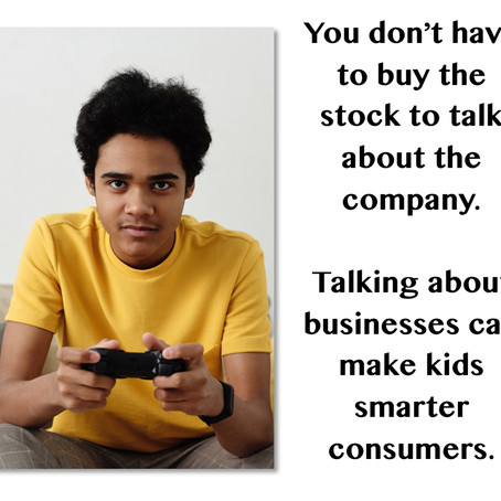 You Don't Have to Buy the Stock to Talk About the Company...