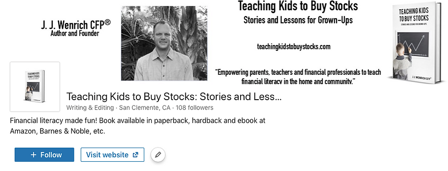 Linked In Banner for Teaching Kids to Bu