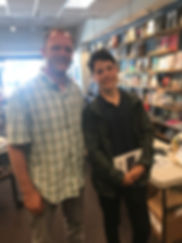 Warwicks Book Signing Picture with Teen