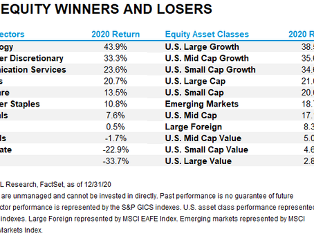 Equity Winners and Losers in 2020