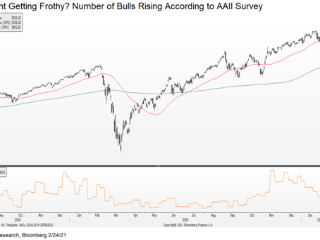 Sentiment Getting Frothy, but Long-Term Bullish