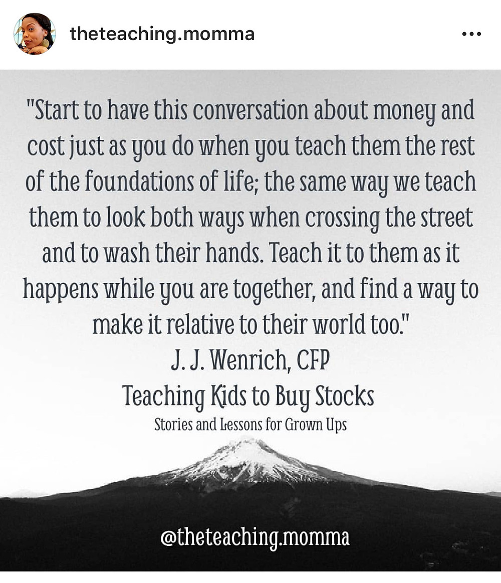 Quote from Teaching Kids to Buy Stocks Chapter 5.