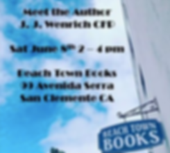 Beach Town Books Book Signing Flyer