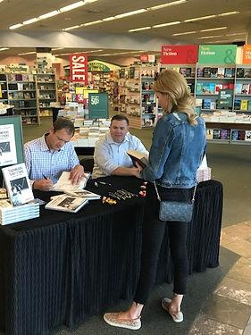 JJ Wenrich Signing a book at UTC Barnes
