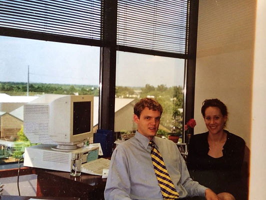 JJ and Jodie Wenrich in their old office