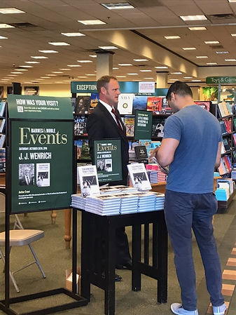 JJ Wenrich at Barnes & Noble in Aliso Vi