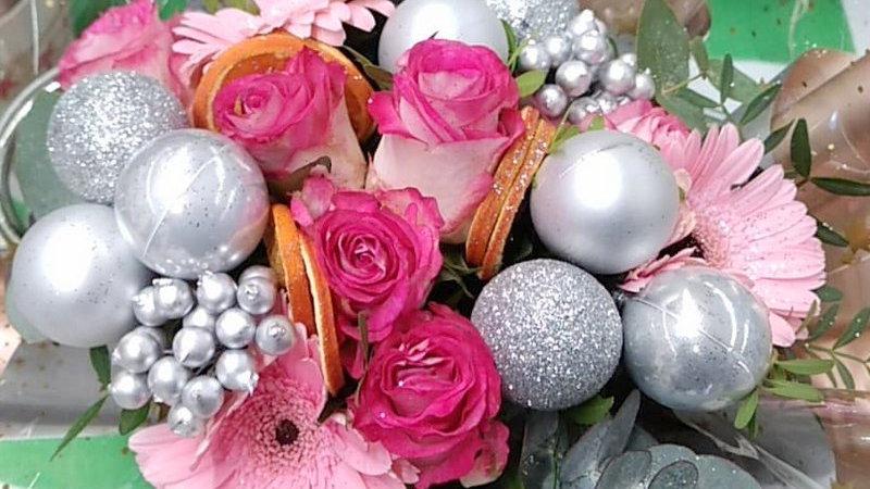 bouquet rond noël