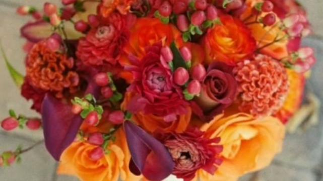 bouquet rond acidulé