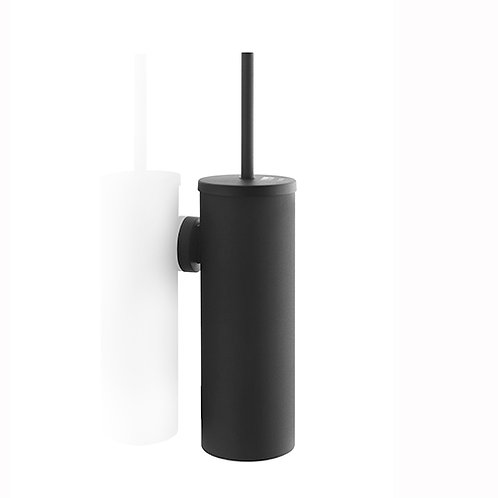 Satino Black toilet brush with holder